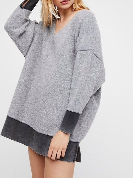 Casual Patchwork Sweatshirt