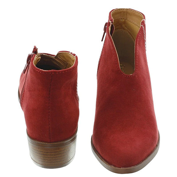 Spring/fall Zipper Artificial Suede Daily Boot