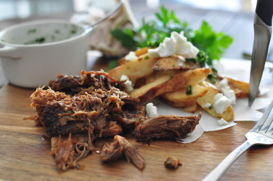 Argentinian Beef Asado with Potatoes Provenzal & Goat Cheese