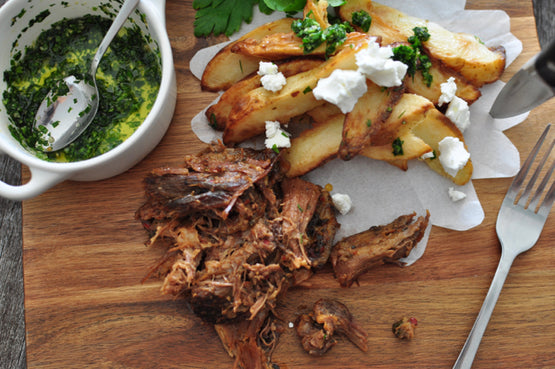 MINI MEAL Argentinian Beef Asado with Potatoes Provenzal & Goat Cheese