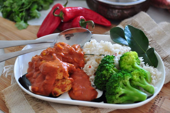LARGE Balinese Style Chicken Curry, Coconut Rice & Broccoli