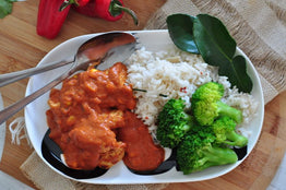 Balinese Style Chicken Curry, Coconut Rice & Broccoli