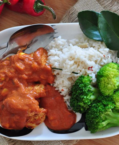 MINI MEAL Balinese Style Chicken Curry, Coconut Rice & Broccoli