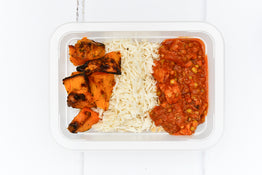 VEG Organic Tempeh & Mung Bean Stew - Basmati Pilaf with Roasted Pumpkin