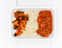VEG MINI MEAL Organic Tempeh & Mung Bean Stew - Basmati Pilaf with Roasted Pumpkin