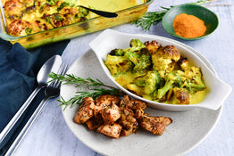 Turmeric-Rosemary Superfood Veg with Smokey Chicken
