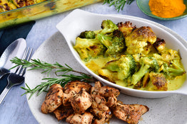 Turmeric-Rosemary Superfood Veg with Smokey Grilled Chicken