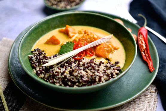 VEG LARGE Fragrant Pumpkin Curry, Quinoa & Black Rice - Balinese Organic Tempeh