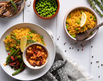 VEG PE Style Veg Paella with South American Baked Legumes