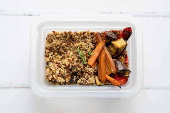 SIDE Mediterranean Roasted Veggies, Quinoa & Lentil - Tahini Dressing