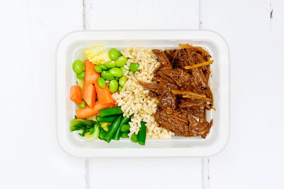 LARGE Hoisin Style Beef - Lemongrass Basmati Rice, Carrots & Asian Greens