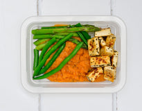 VEG MINI MEAL Rustic Sweet Potato Mash & Green Beans with Organic Herb Tofu