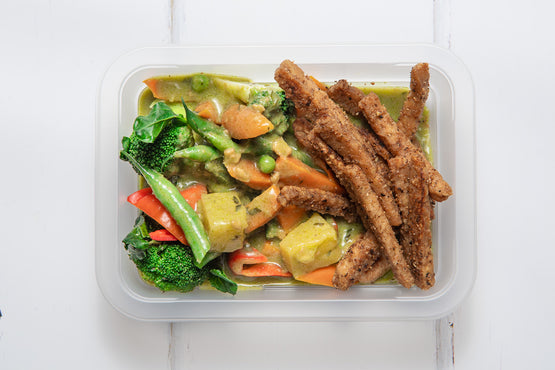 VEG MINI MEAL VEG Pineapple & Green Veg Thai Curry with Organic Grilled Tempeh