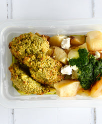 VEG Roasted Potatoes with Provenzal & Goat Cheese - Quinoa Falafels
