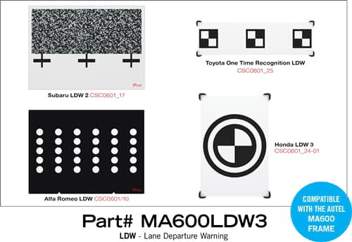 Autel MaxiSYS ADAS MA600LDW3 - Expansion Set of Targets for MA600 LDW
