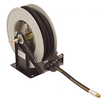 LiquiDynamics 43002-30A Air/Water Hose Reel, 3/8in x 30ft, Open Drum