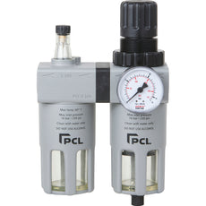 PCL ATCFRL6 Filter-Regulator-Lubricator, 1/4 inch Npt