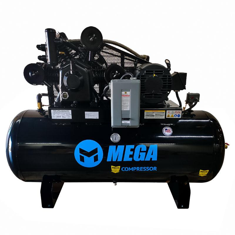 Mega Compressor MP-10120H3-BA -120 gal Horz. Electric Air Compressor