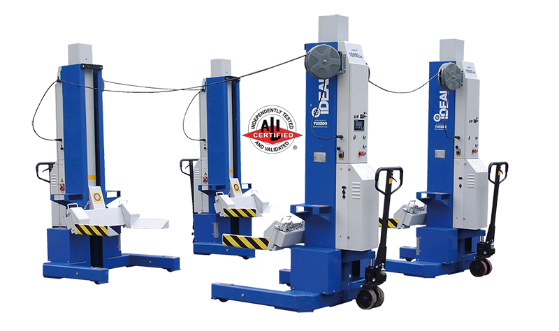iDeal MSC-18K-X-472 Mobile Column Vehicle  Lift, Four Column Set, 72,000 lbs. ALI Certified