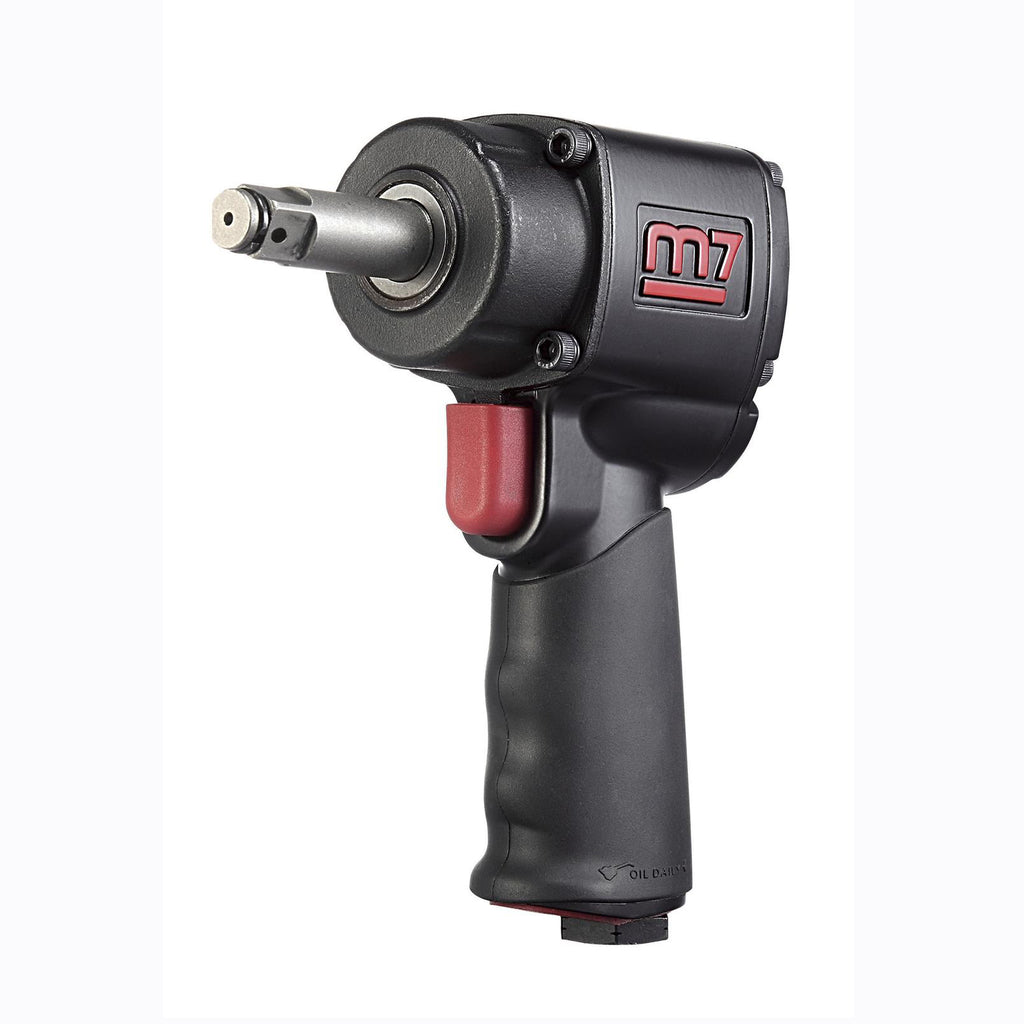 Mighty Seven M7 NC-4620HQ - 1/2 in. Drive Mini Impact Wrench 500 Ft-Lb 2 in. Ext Anvil