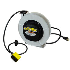 Saf-T-Lite 4550-5101 - 50ft. 20 Amp Retractable Cord Reel with Duplex Outlet