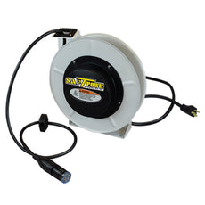 Saf-T-Lite 4550-5106 - 50ft. Retractable Cord Reel Power Supply Reel with Locking Outlet