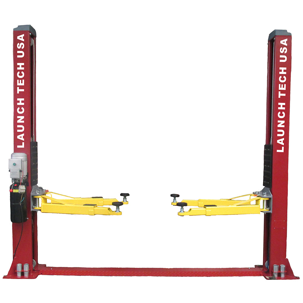 Launch Tech Usa TLT240SB-R 9,000 Lb Two Post Floor Plate - Symmetric - Red