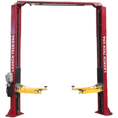 Launch Tech Usa TLT240SC-R 9,000 Lb Two Post Clear Floor - Asymmetric - Red