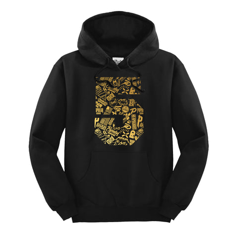 Five Year 5 Hoodie / Black