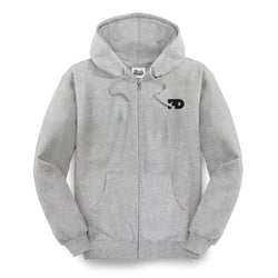 PD Basics Zip-Up Hoodie / Heather Gray