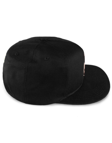 Gold Square Flag Snapback / Black