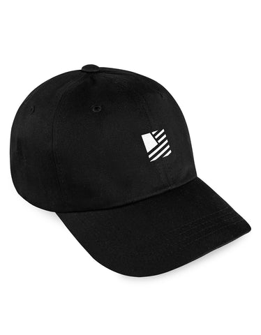 Square Flag Sport Strapback / Black & White