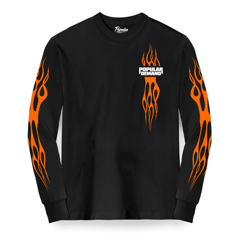 Flames Long Sleeve Tee / Black