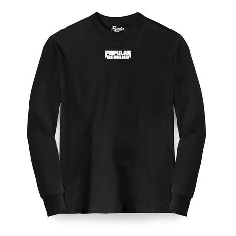 Bold Raw Long Sleeve / Black