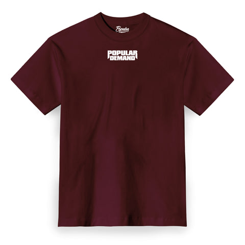 Bold Raw Tee / Burgundy
