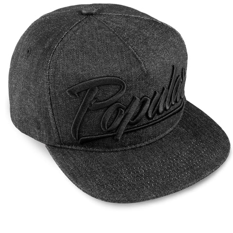 Popular Script Snapback / Denim