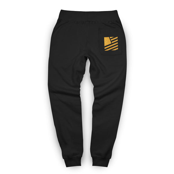 Popular Script Joggers / Black & Gold