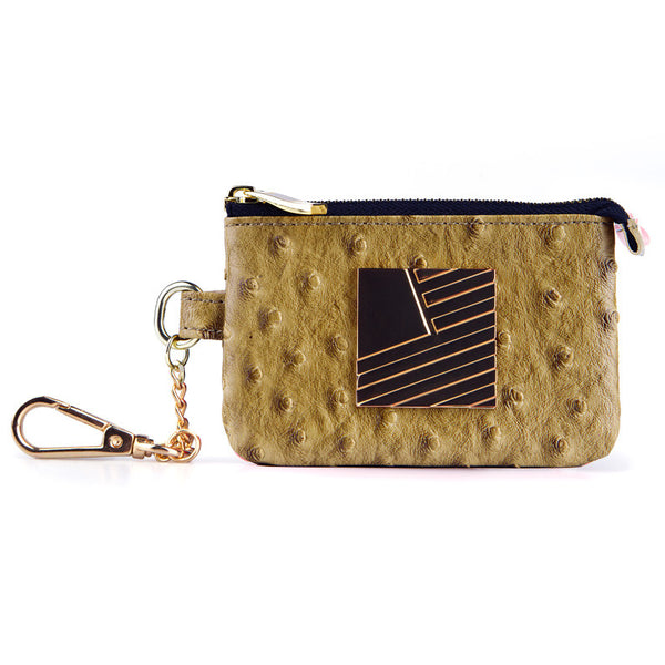 Ostrich Square Flag Coin Pouch Ostrich