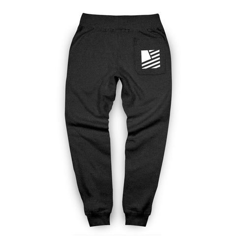 Popular Script Joggers / Charcoal & White