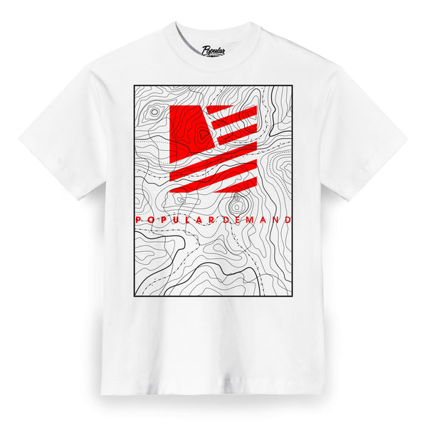 Camp Map Tee / White