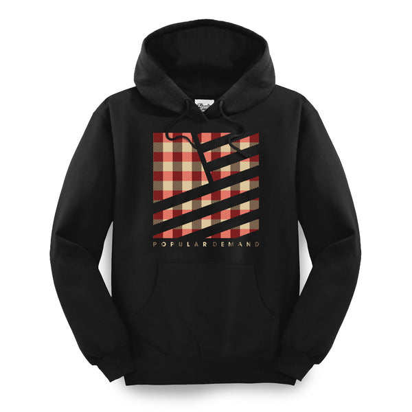 Camp Plaid Hoodie / Black