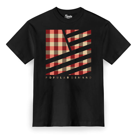 Camp Plaid Tee / Black