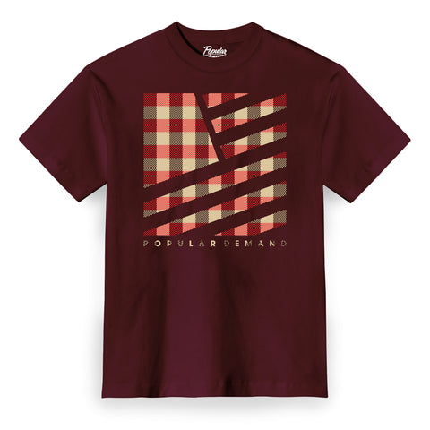 Camp Plaid Tee / Burgundy