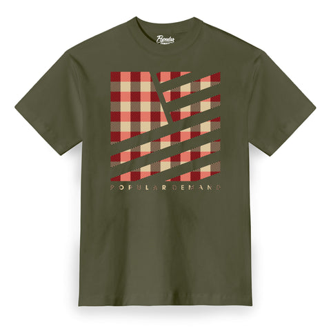 Camp Plaid Tee / Army