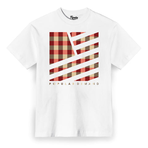 Camp Plaid Tee / White