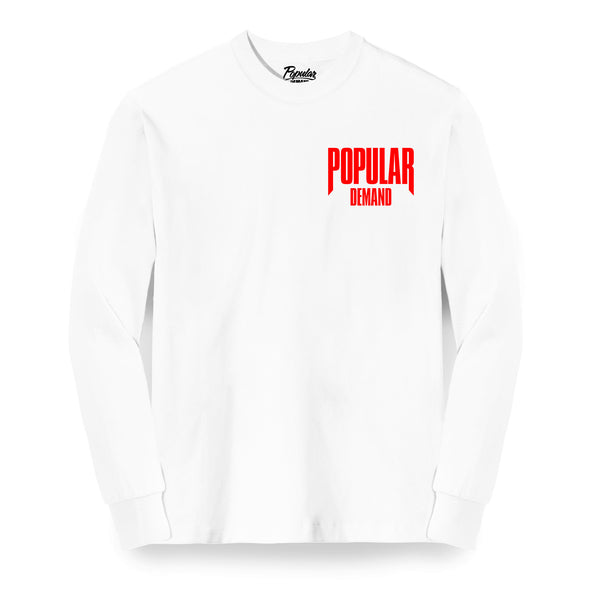 Raw Logo Long Sleeve / White