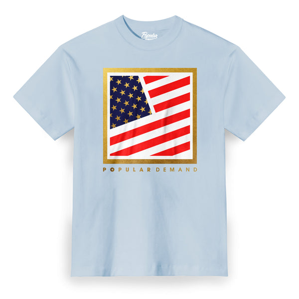 Olympic Square Flag Clean / Light Blue