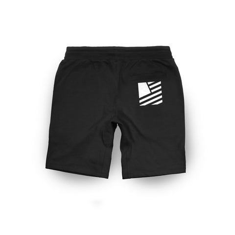 Popular Script Slim Fit Shorts / Black