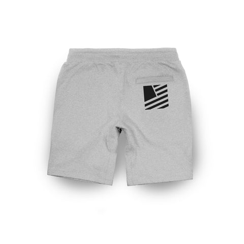 Popular Script Slim Fit Shorts / Athletic Heather