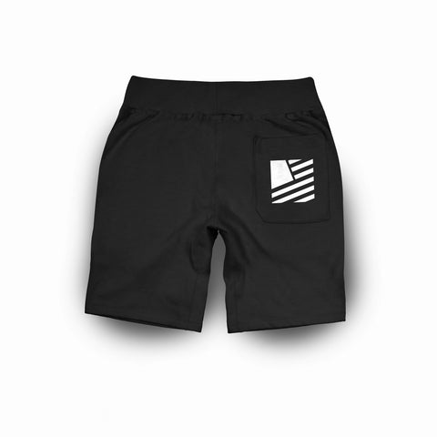 Popular Script Sweatshorts / Black